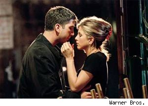 Ross and Rachel's kiss on Friends