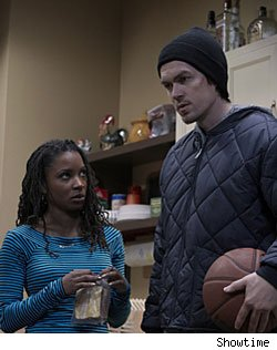 Shanola Hampton and Steve Howey