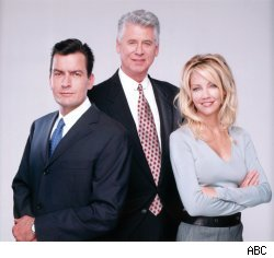 Charlie Sheen, Heather Locklear and Barry Bostwick of 'Spin City'