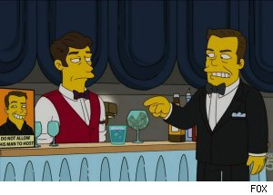 Ricky Gervais, 'The Simpsons' Golden Globes