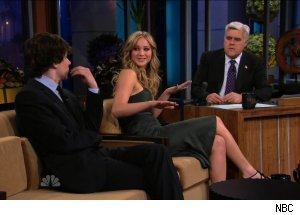 Jesse Eisenberg &amp; Jennifer Lawrence, 'The Tonight Show with Jay Leno'