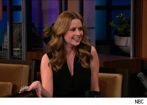 Jenna Fischer talks Jeff Probst marrying her on 'The Tonight Show with Jay Leno'