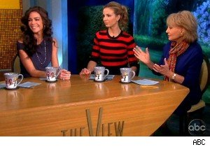 Denise Richards, Elisabeth Hassebeck, and Barbara Walters on 'The View'
