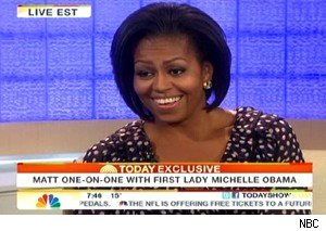 Michelle Obama Facebook Today Show