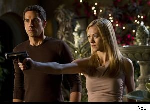 Chuck Bartowski and Sarah Walker of the NBC action comedy 'Chuck.'