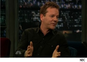 Kiefer Sutherland Talks Broadway on 'Late Night'