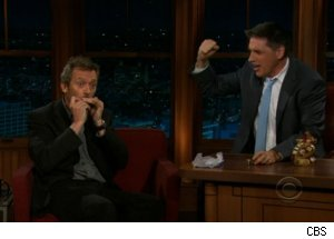 Hugh Laurie Plays Harmonica on 'Late Late'