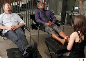 Hugh Laurie and Omar Epps on 'House'