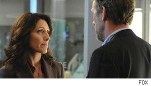 Lisa Edelstein and Hugh Laurie on 'House'