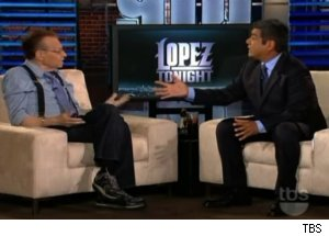 Larry King Visits 'Lopez Tonight'