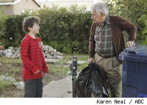 Noland Gold and Philip Baker Hall in 'Modern Family' - 'Boys' Night'