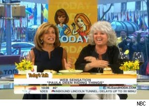 Paula Deen Rides Things in New Internet Meme on 'Today'
