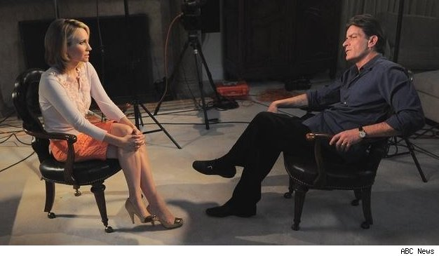 Andrea Canning talks to Charlie Sheen on 20/20 on March 1, 2011