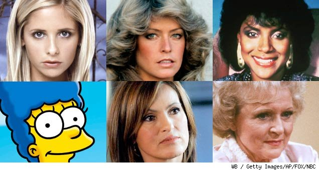 100 memorable women on tv