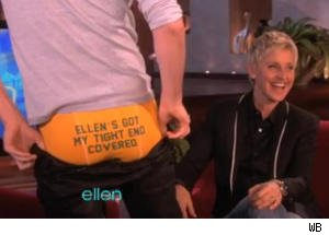 'Glee's' Chord Overstreet Shows His Underwear on 'Ellen'