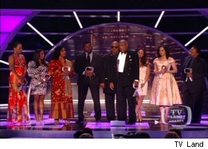 Bill Cosby and the cast of 'The Cosby Show' at '2011 TV Land Awards'