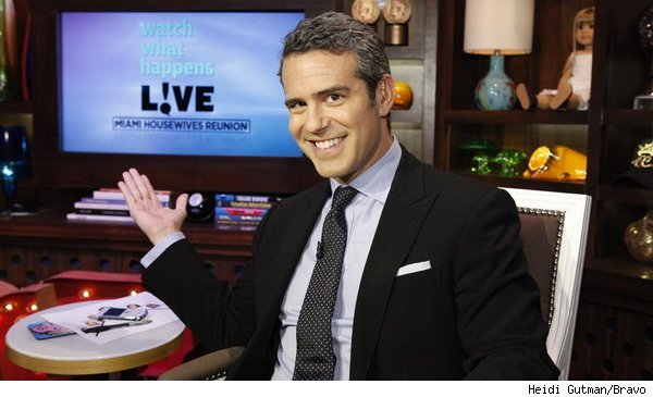 Andy Cohen in the Bravo clubhouse