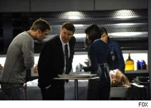 Booth, Cam and Bones investigate a body brought in by Walter Sherman in this week's episode of 'Bones.'