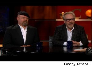 'Mythbusters' on 'Colbert Report'