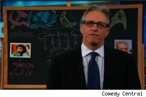 Jon Stewart as Glenn Beck on 'The Daily show'
