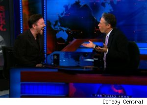 Ricky Gervais Talks Globes on 'Daily Show'