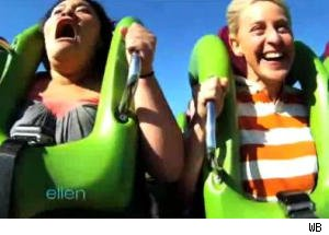 Ellen Torments Terrified Audience Member on Thrill Rides