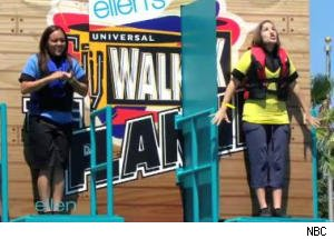 Audience Members Walk the Plank on 'Ellen'
