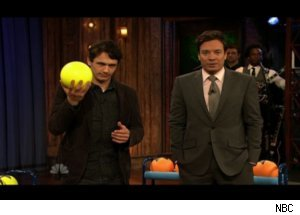 James Franco Plays 'Late Night' Skeeball
