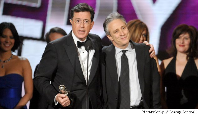 Stpehen Colbert and Jon Stewart on 'The Comedy Awards'