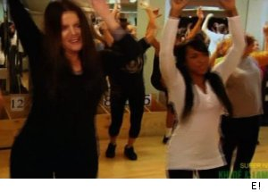 Khloe Kardashian working out with Richard Simmons, 'Khloe & Lamar'