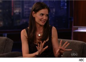 Katie Holmes Talks Tom Cruise Stunts on 'Kimmel'