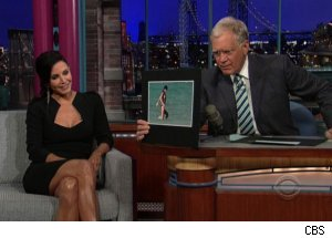 Courteney Cox Nip-Slip on 'Late Show'