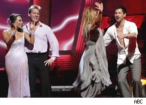 Cheryl, Chris, Kirstie and Maks
