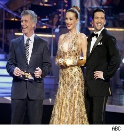 Tom Bergeron, Petra Nemcova and Dmitry Chaplin