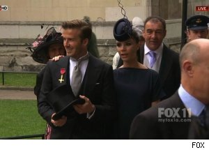 David &amp; Victoria Beckham, Royal Wedding coverage