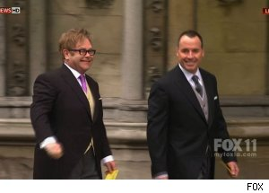 Sir Elton John & David Furnish, Royal Wedding coverage