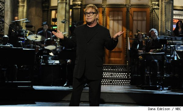 Elton John hosted 'SNL' on April 2, 2011