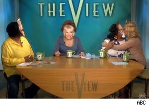 Sherri and Elisabeth Kiss in Honor of the Royal Wedding on 'The View'
