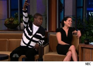 Tracy Morgan &amp; Neve Campbell, 'The Tonight Show with Jay Leno'