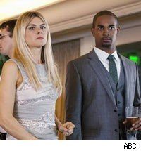 Eliza Coupe and Damon Wayans Jr.