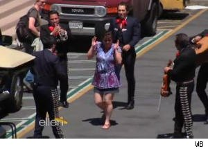 Ellen Startles People With a Mariachi Band in Honor of Cinco de Mayo