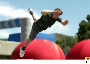 Josh Elliott and Melissa Rycroft Get Battered and Bruised on 'Wipeout'