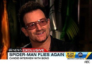 Bono talks about 'Spider-Man: Turn Off the Dark' on 'Good Morning America'