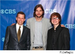 Jon Creyer, Ashton Kutcher and Angus T. Jones