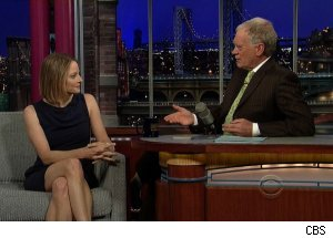 Jodie Foster, 'Late Show with David Letterman'