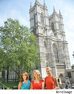 Jane Seymour, Mary Hart & Nancy O'Dell in London