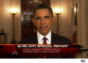 President Barack Obama announces Osama bin Laden is dead