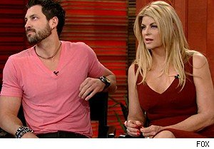 Maksim Chmerkovskiy and Kirstie Alley on 'Live With Regis and Kelly'