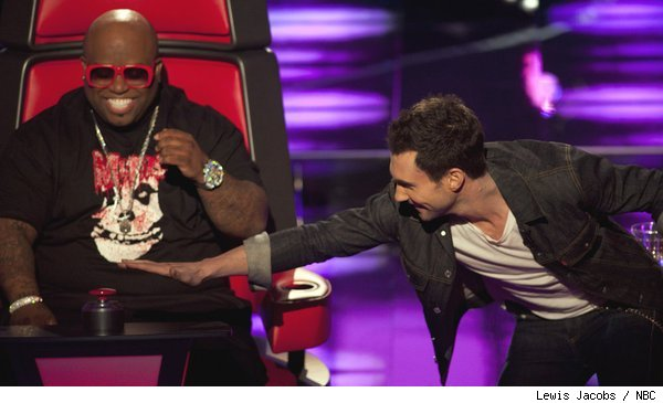 Cee Lo Green and Adam Levine on 'The Voice'