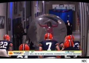 Ann Curry Runs Obstacle Course in Human Hamster Ball